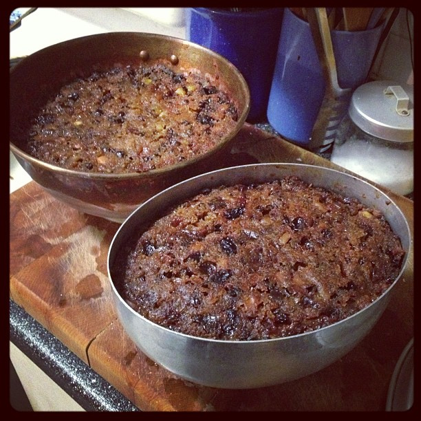 Puddings, steamed and waiting for a big drink of Brandy