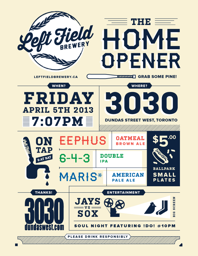 Left Field Brewery Launch at 3030
