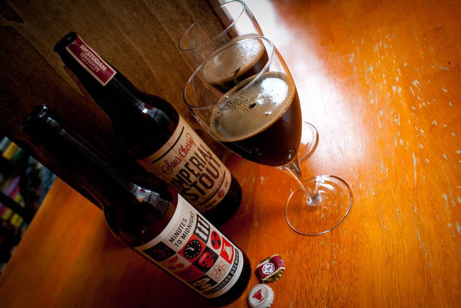 Bellwoods 3 Minutes to Midnight vs Amsterdam Sour Cherry Imperial Stout