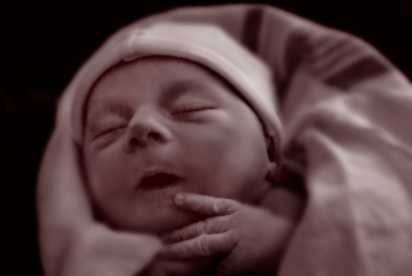 Andrew Bentley Schryer, about 10 minutes old.