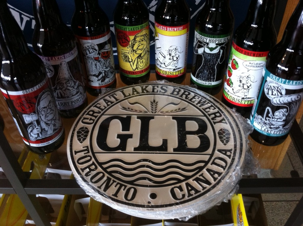 Great Lakes Brewery tin sign