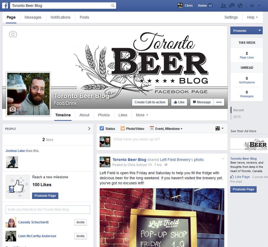 TorontoBeerBlog.com is on Facebook. Welcome to 2004